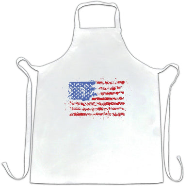 American Chef's Apron Paint Splatter US Flag