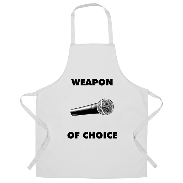 Novelty Music Chef's Apron Weapon of Choice Microphone