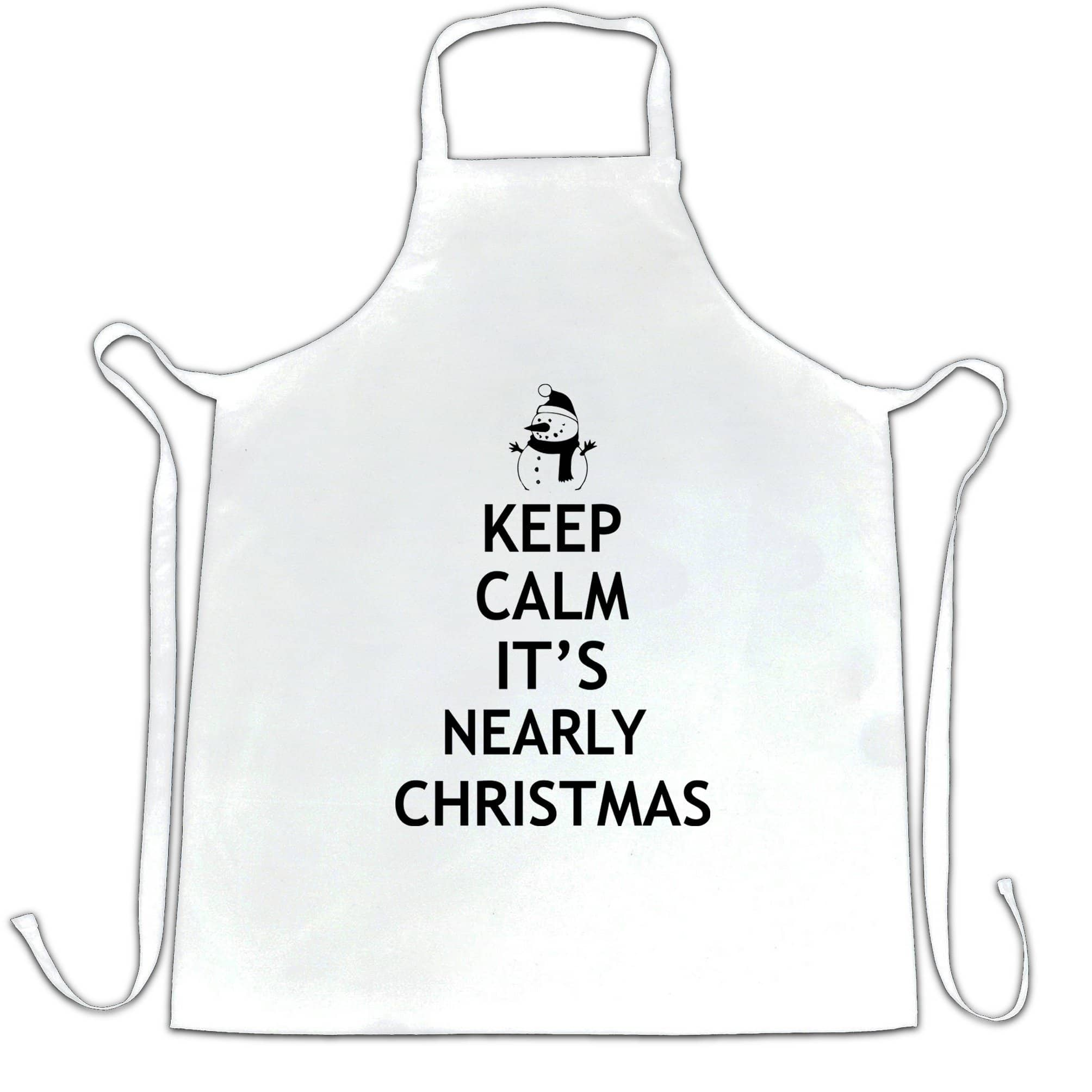 Christmas Chef's Apron Keep Calm It's Nearly Xmas