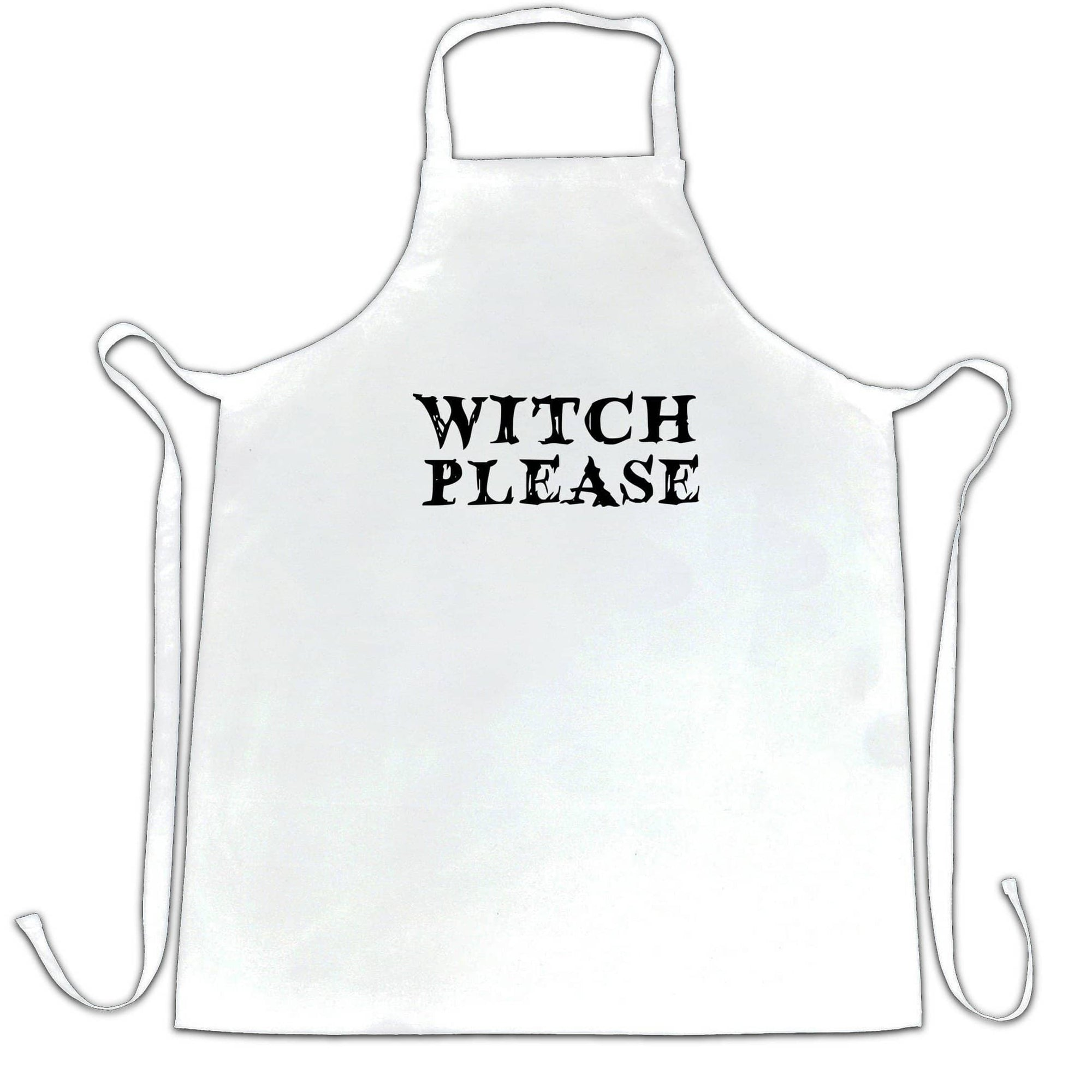 Funny Halloween Chefs Apron Witch Please Novelty Slogan
