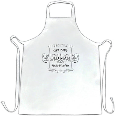 Father's Day Novelty Chef's Apron Grumpy Old Man Slogan