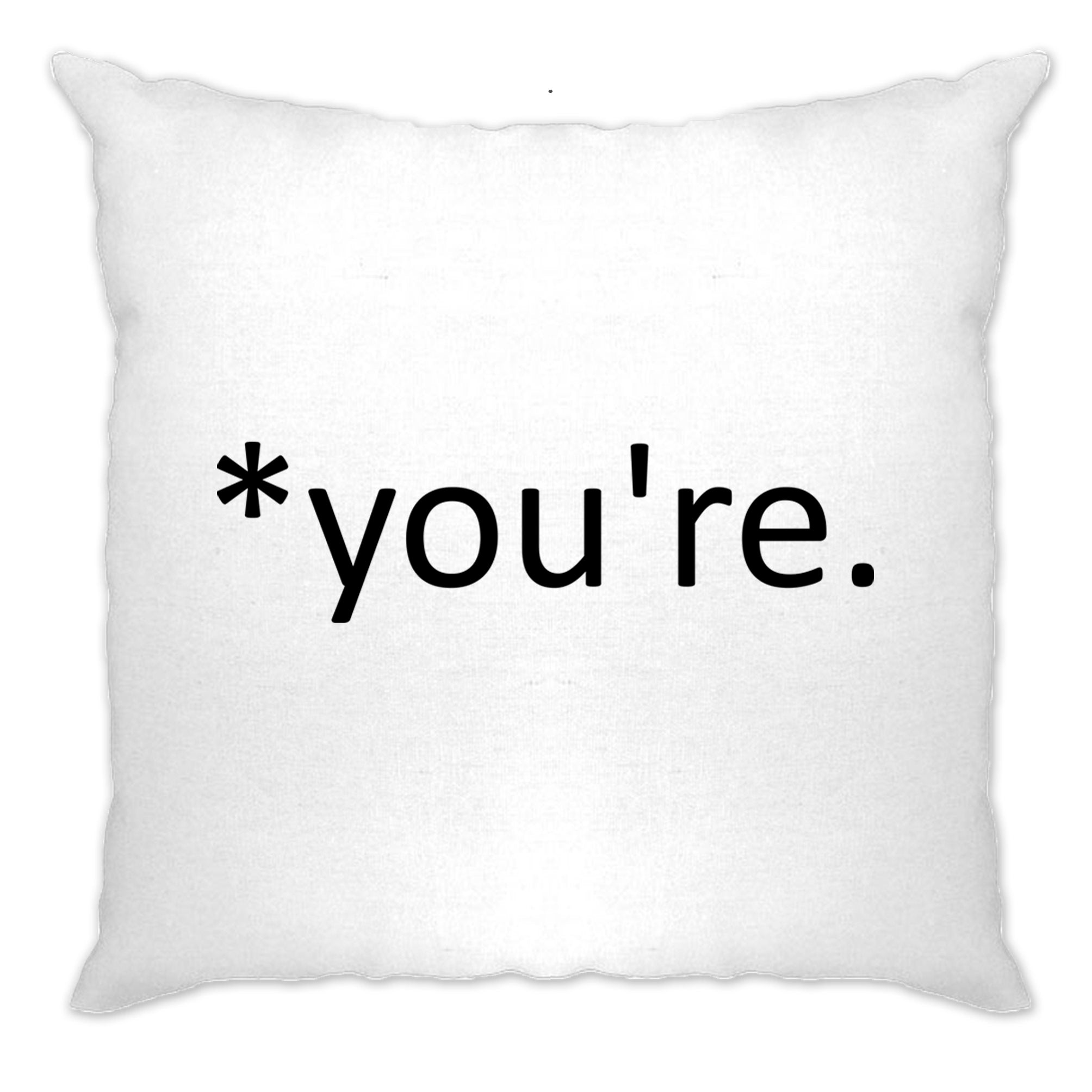 Correction of the Proper 'You're' Funny Cushion Cover Joke
