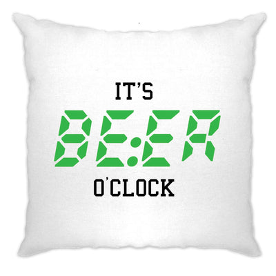 Pub Drinking Cushion Cover It's BEER O'Clock Slogan