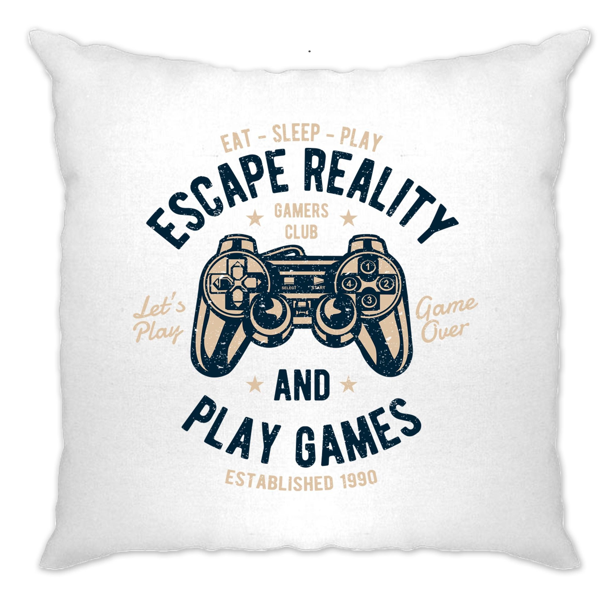 Retro Gamer Art Cushion Cover Escape Reality And Play Games
