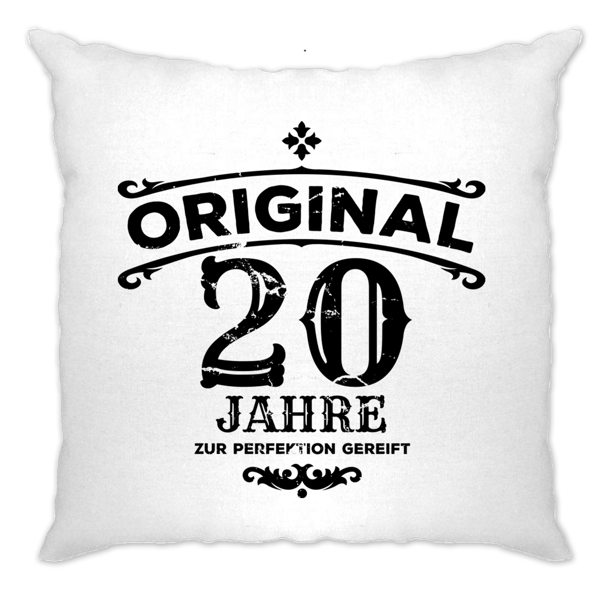 20th Birthday Cushion Cover Original Aged 20 Twenty Years