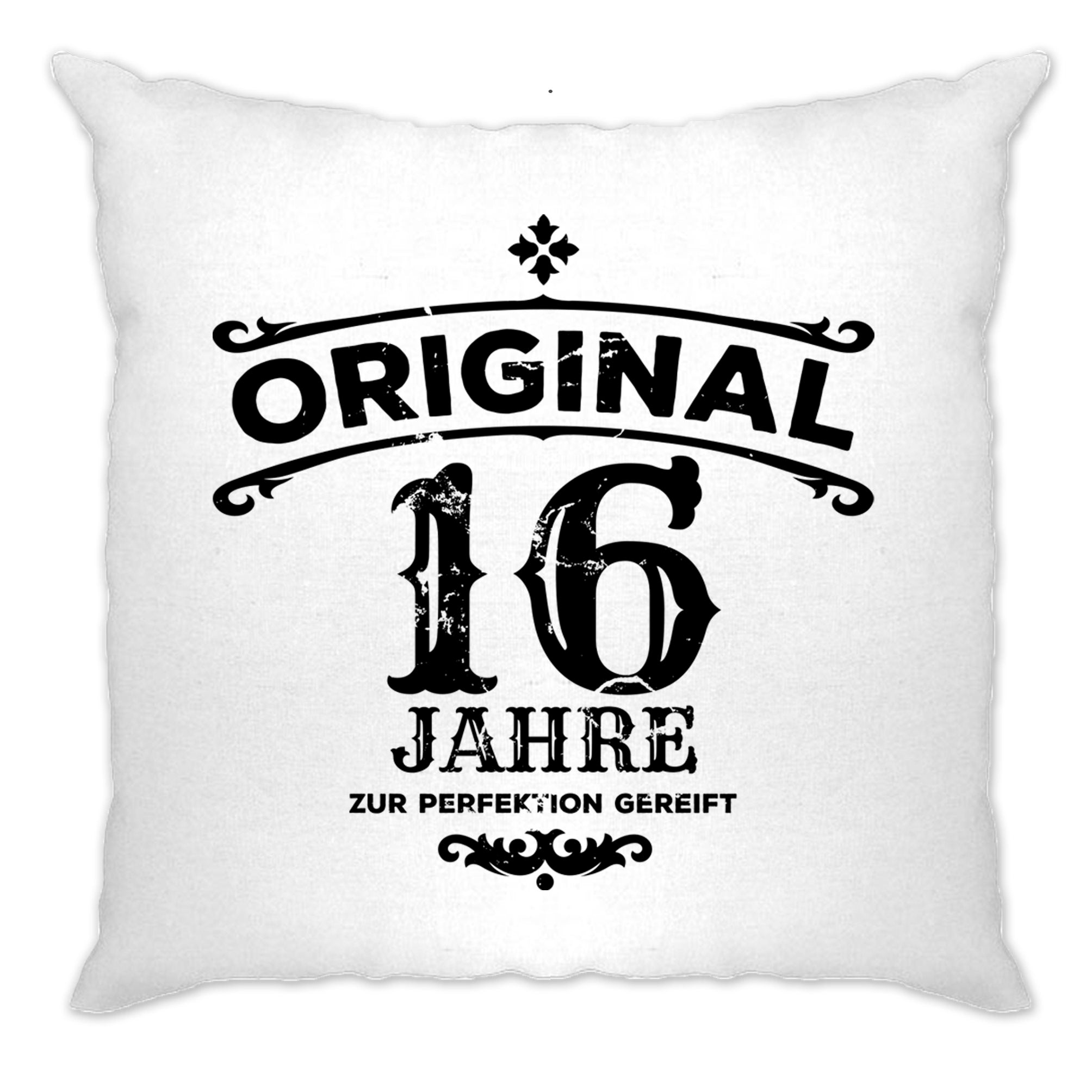 16th Birthday Cushion Cover Original Aged Sixteen 16 Years