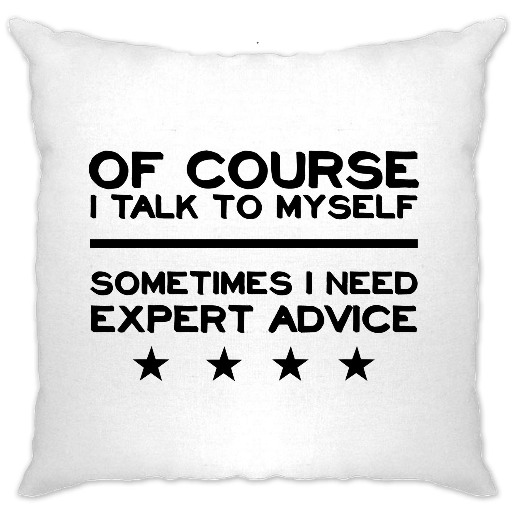 Funny Cushion Cover Of Course I Talk To Myself