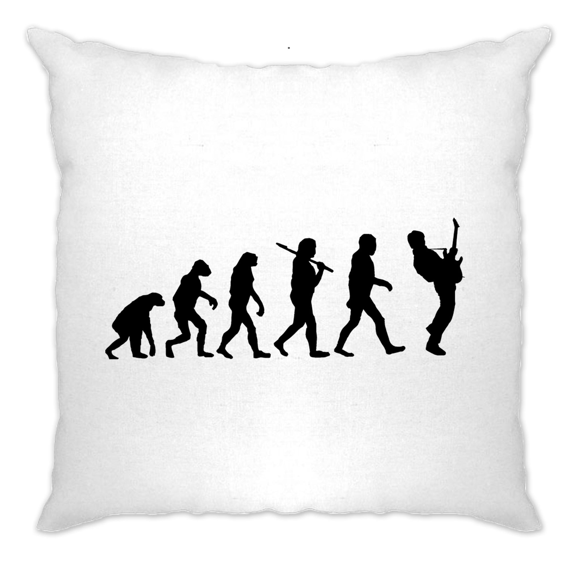 Musician Cushion Cover Evolution Of A Guitarist