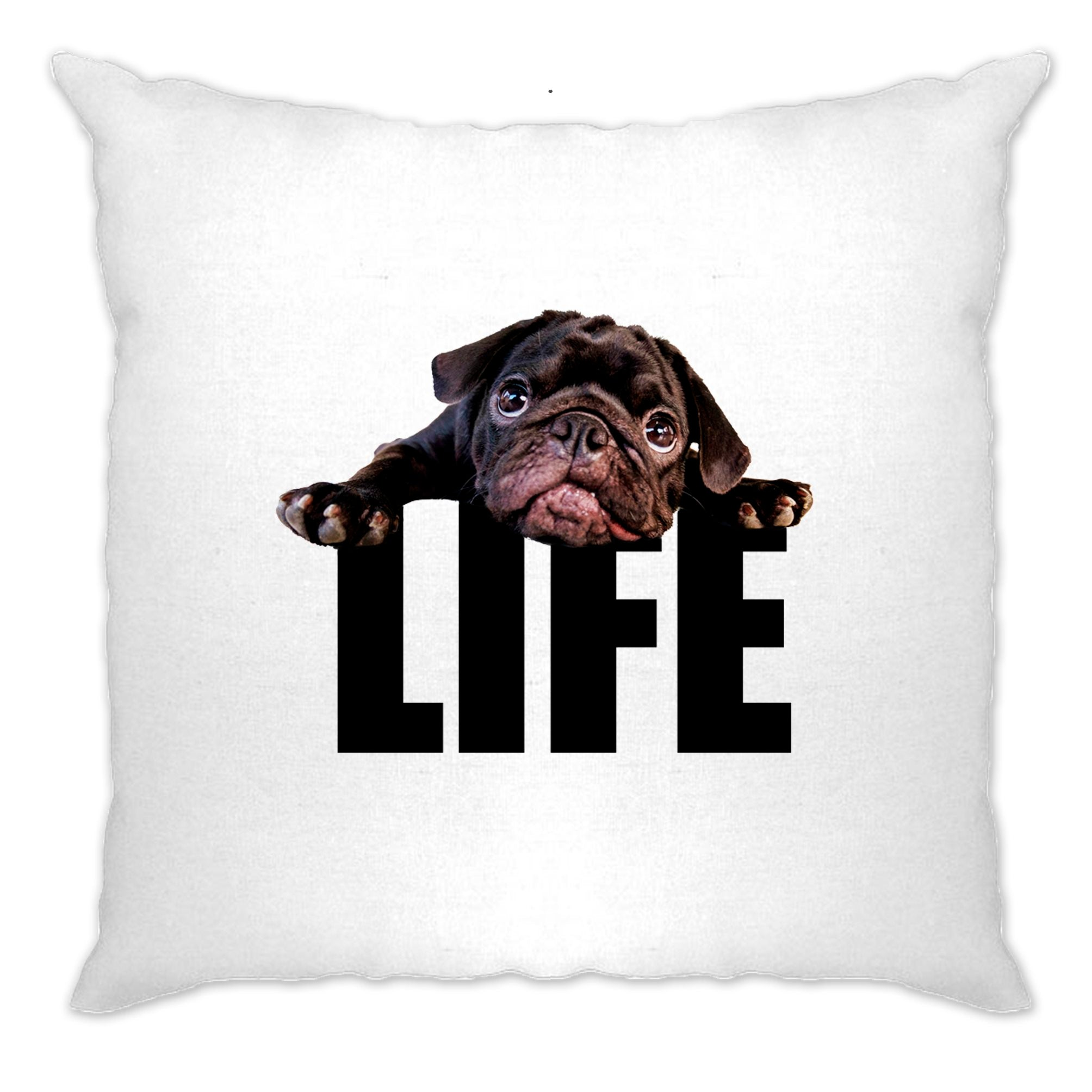 Cute Dog Cushion Cover Pug Life Puppy