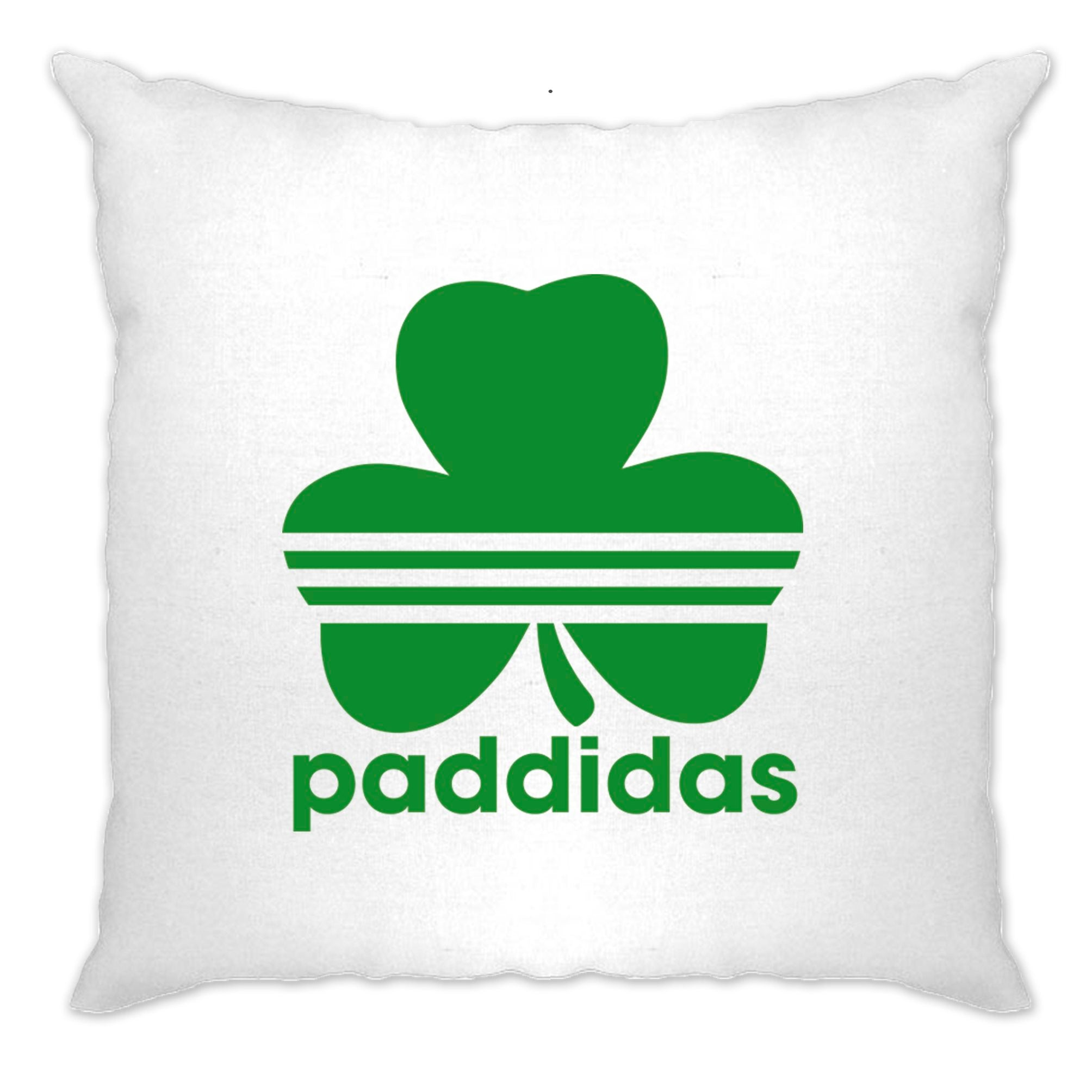 St Patricks Day Cushion Cover Paddidas Paddy Irish Sport
