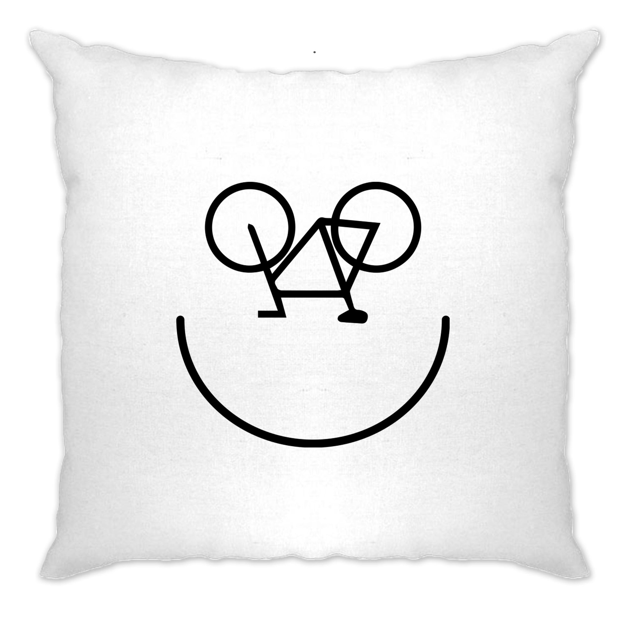 Cycling Cushion Cover Bicycle Happy Smiling Face Logo