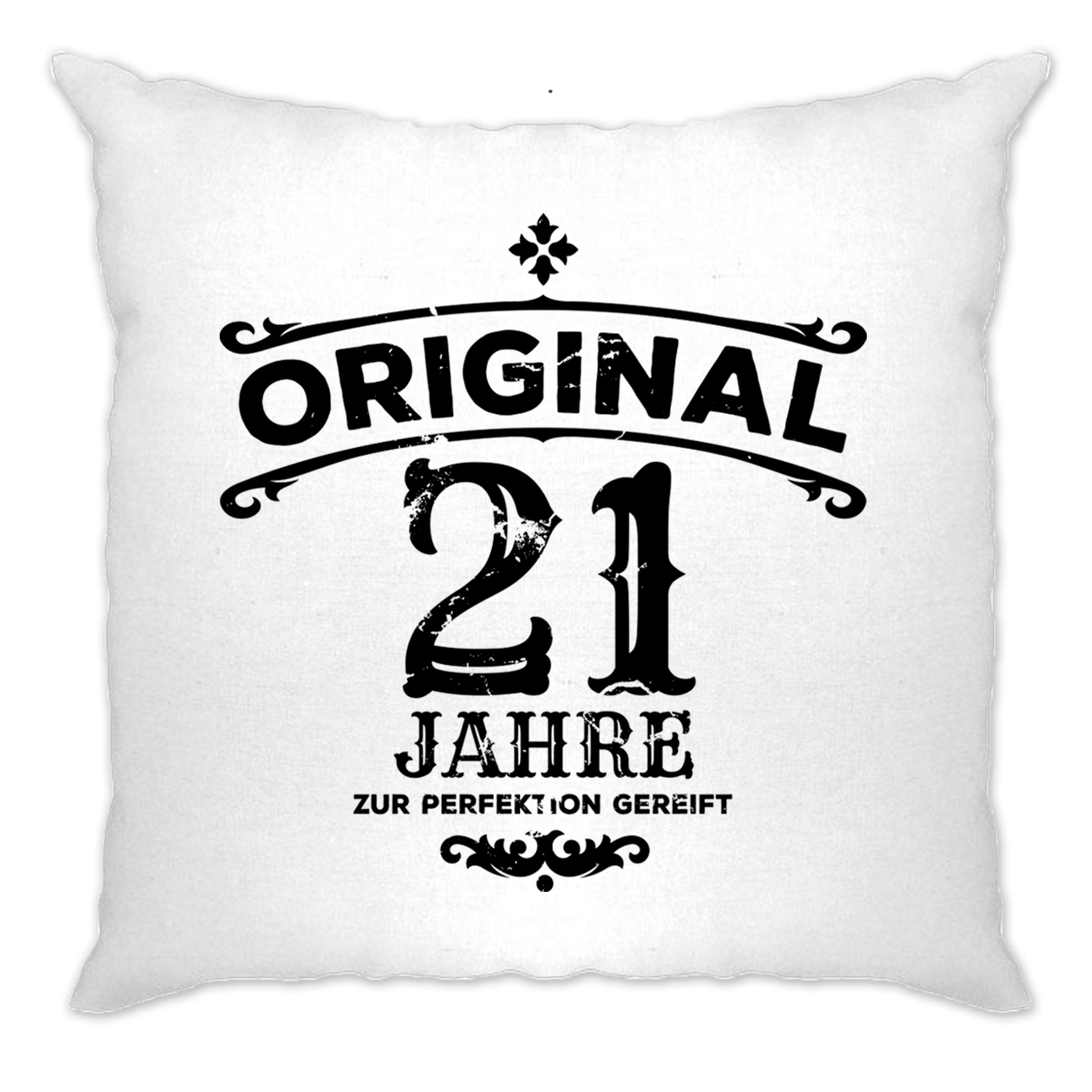 21st Birthday Cushion Cover Original Aged Years Twenty One
