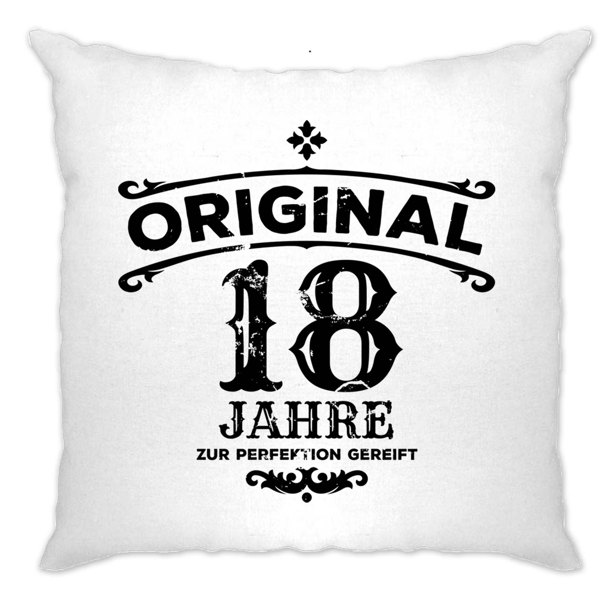 18th Birthday Cushion Cover Original Aged 18 Eighteen Years
