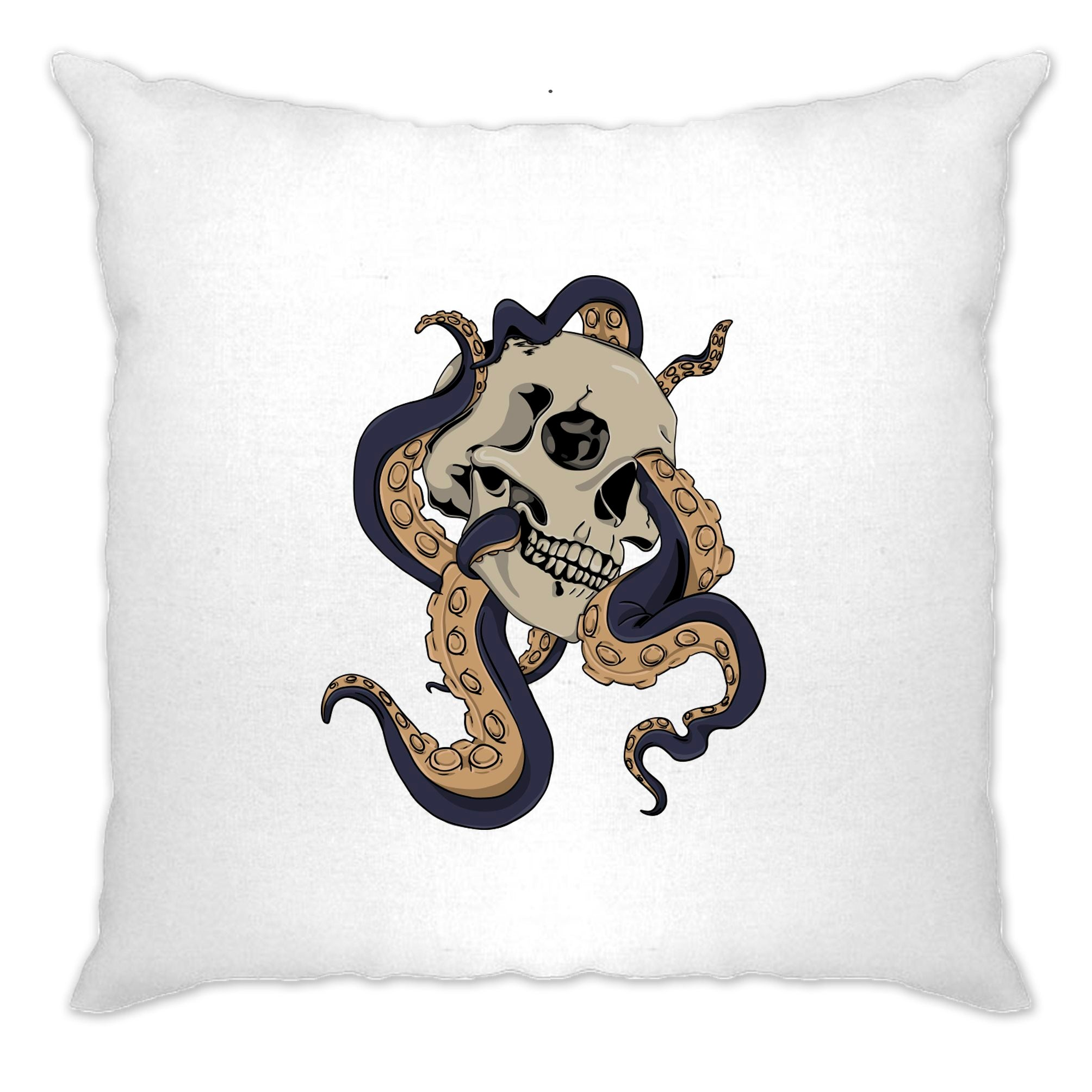 Tattoo Street Art Cushion Cover Skull And Octopus Graphic