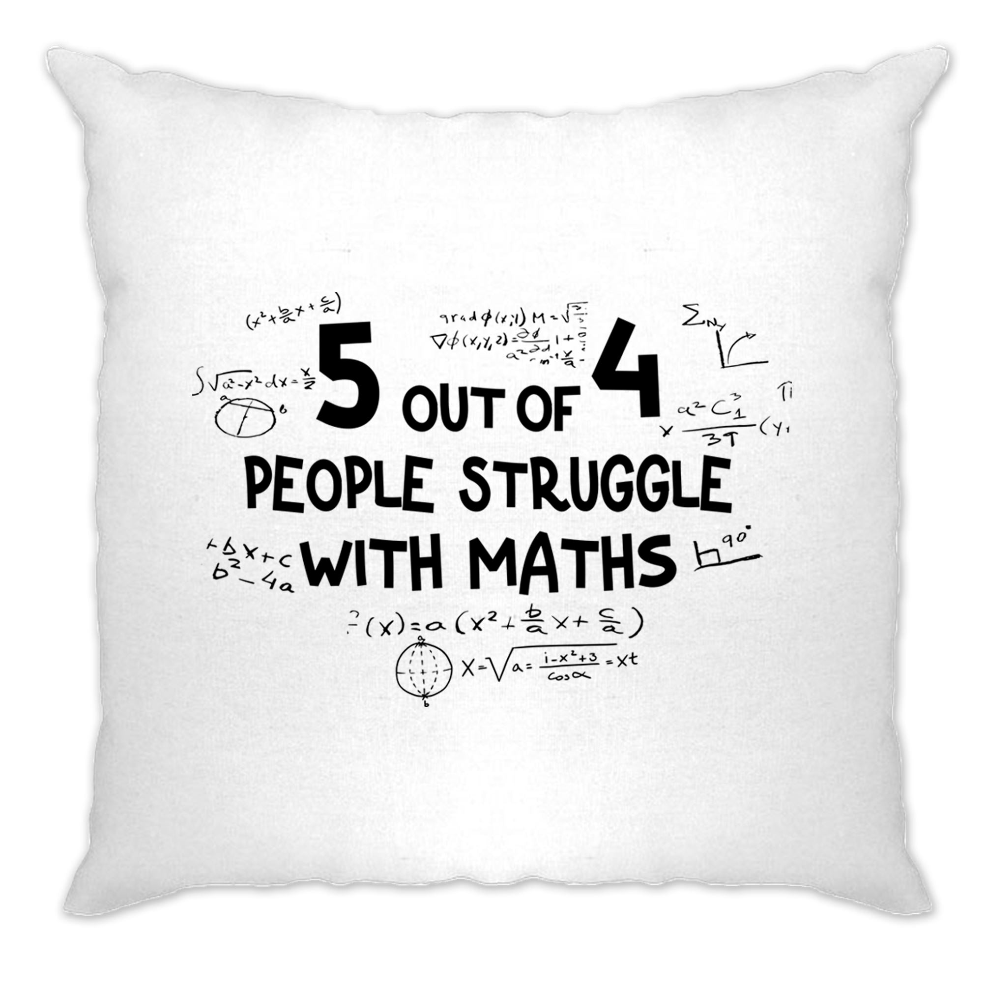 Funny Cushion Cover 5 Out Of 4 People Struggle With Maths