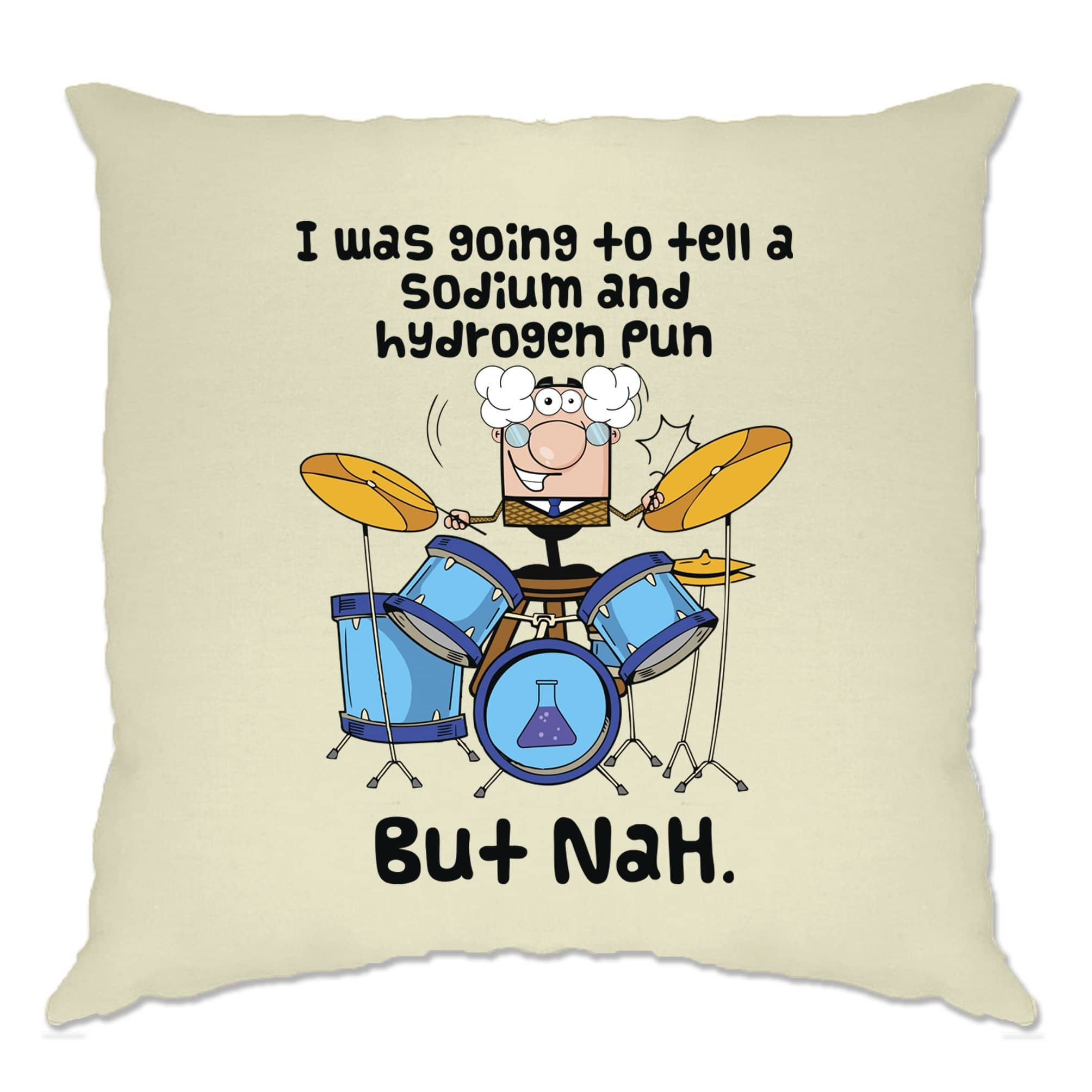 Novelty Nerd Cushion Cover I Was Going To Tell A Pun But NaH