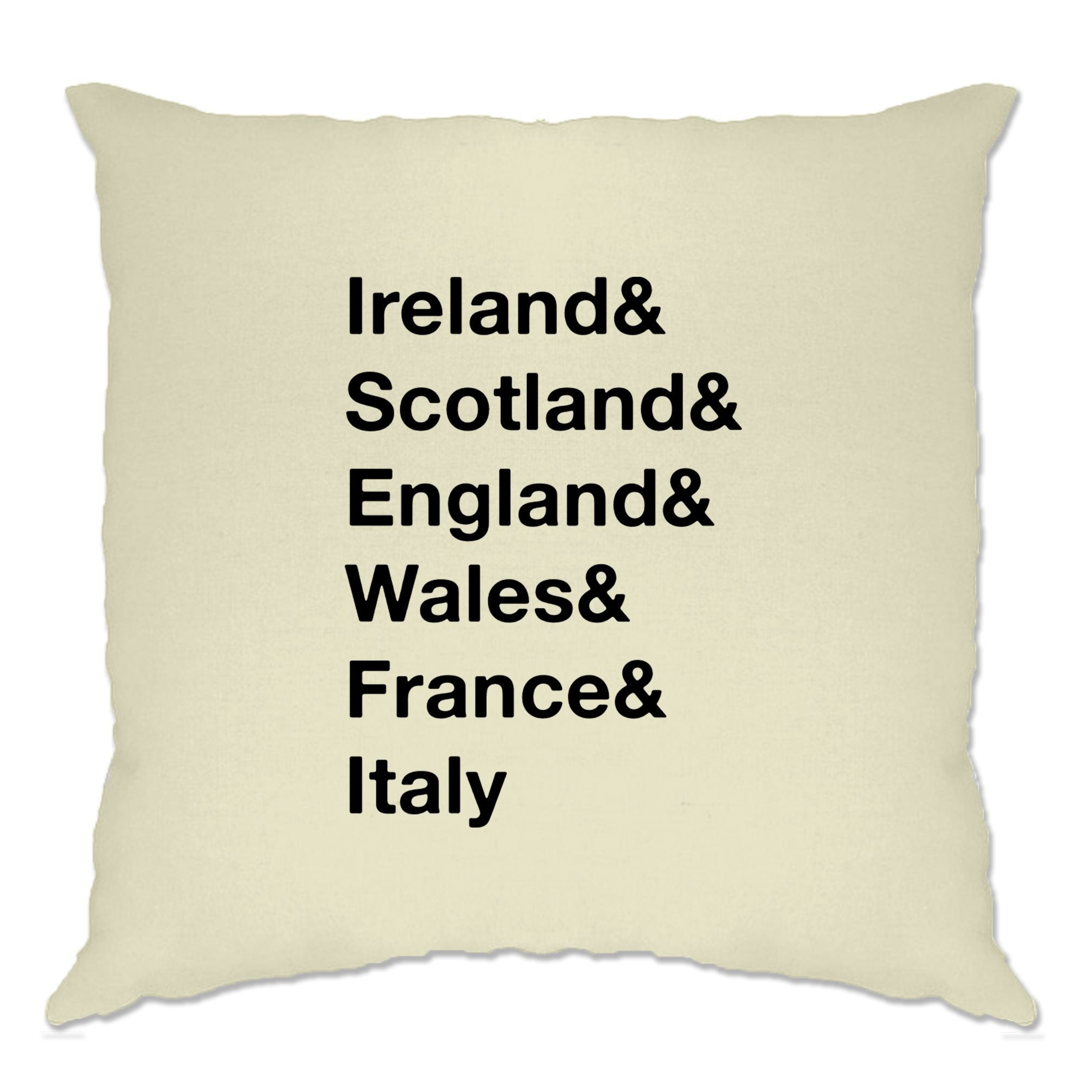 The Six Nations Cushion Cover Ireland, Scotland, England