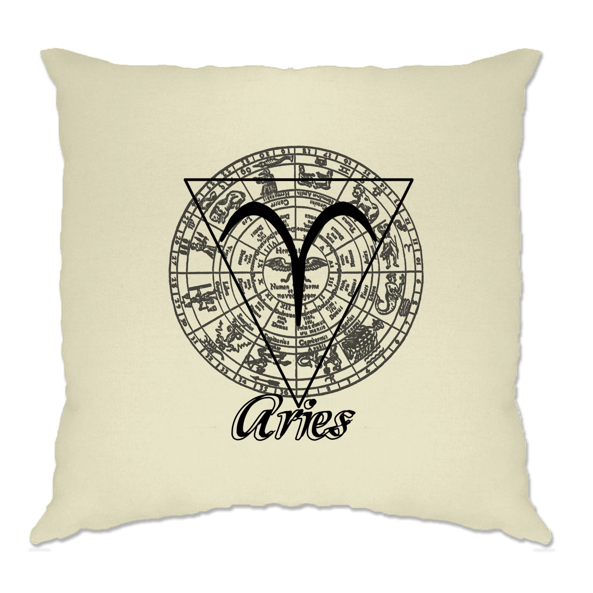 Horoscope Cushion Cover Aries Zodiac Star Sign Birthday