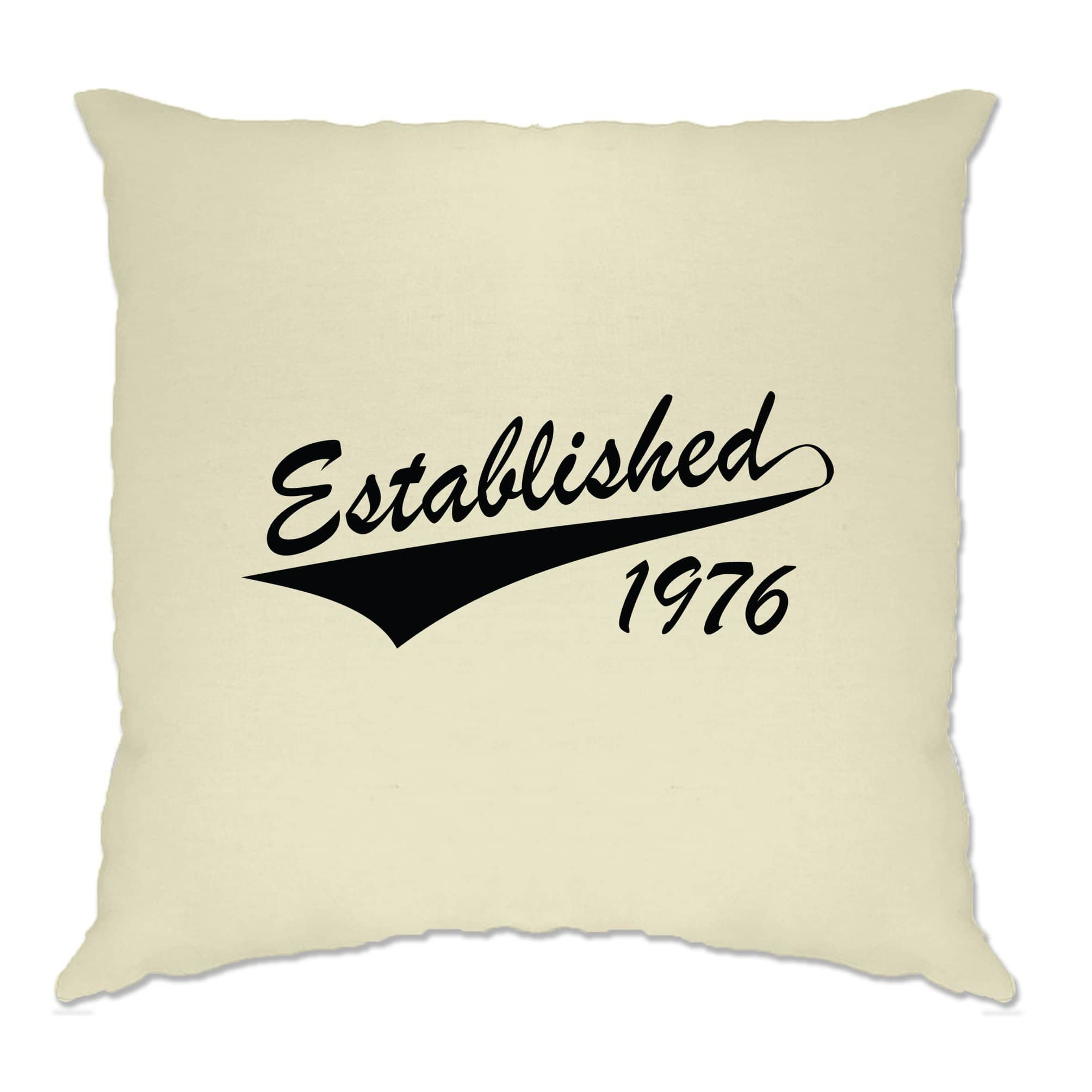 Birthday Cushion Cover Established in 1976 Logo