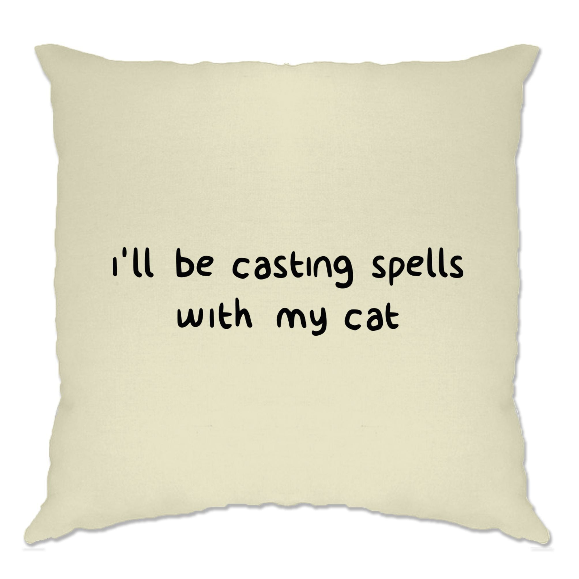 Halloween Cushion Cover I'll Be Casting Spells With My Cat