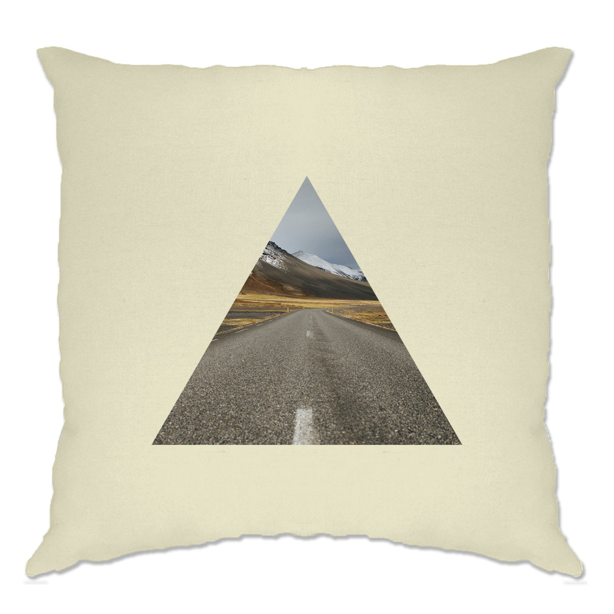 Photographic Art Cushion Cover Geometric Triangle Road