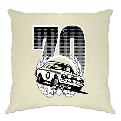Racing Cushion Cover Classic Rally Car Retro 70