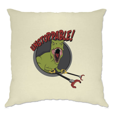 Novelty Cushion Cover Unstoppable T-Rex With Grabber Hands
