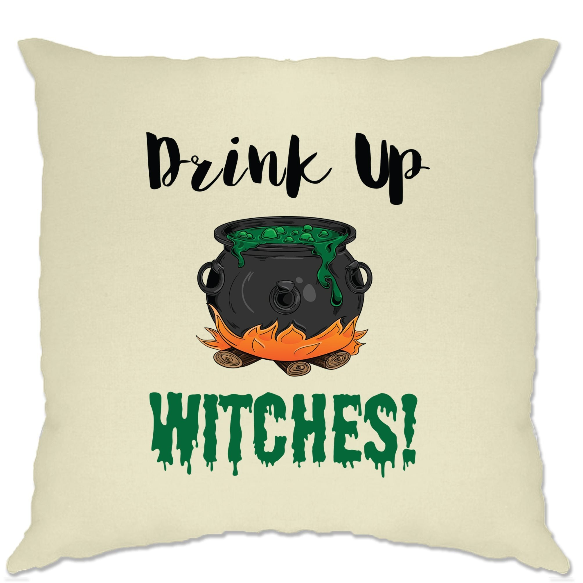 Halloween Cushion Cover Drink Up, Witches Cauldron