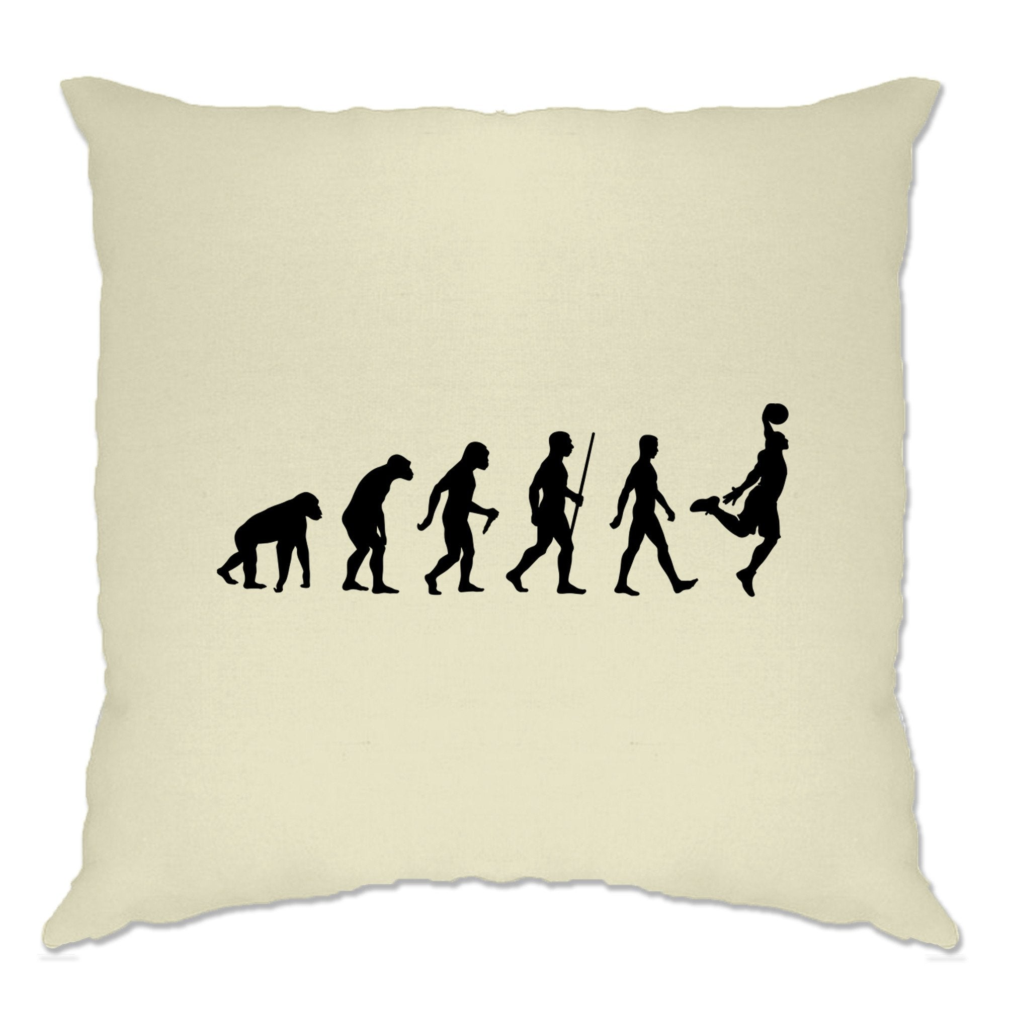 Sports Cushion Cover Evolution Of A Basketball Player