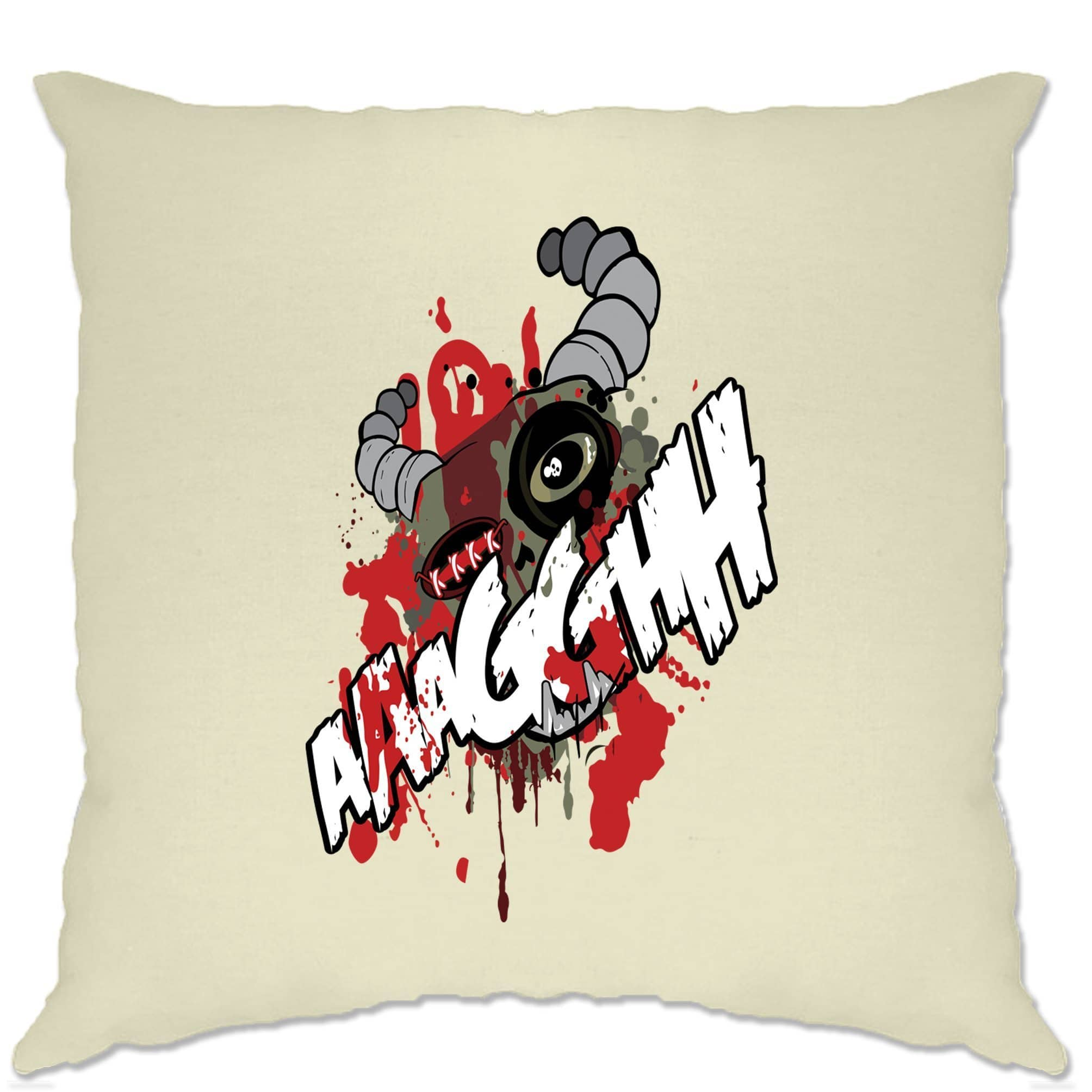 Cartoon Monster Cushion Cover Scary Ogre Face