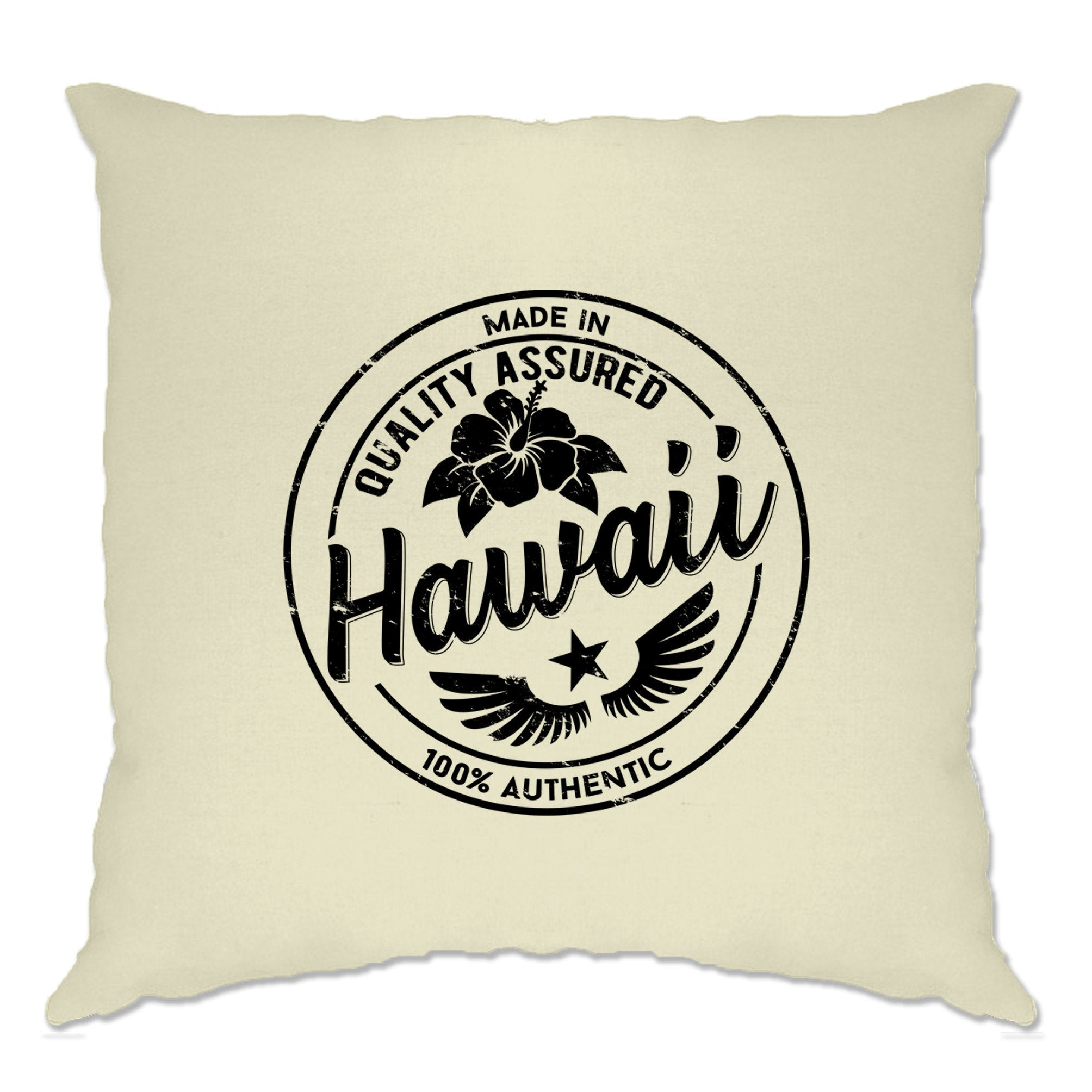 Hometown Pride Cushion Cover Made in Hawaii Stamp