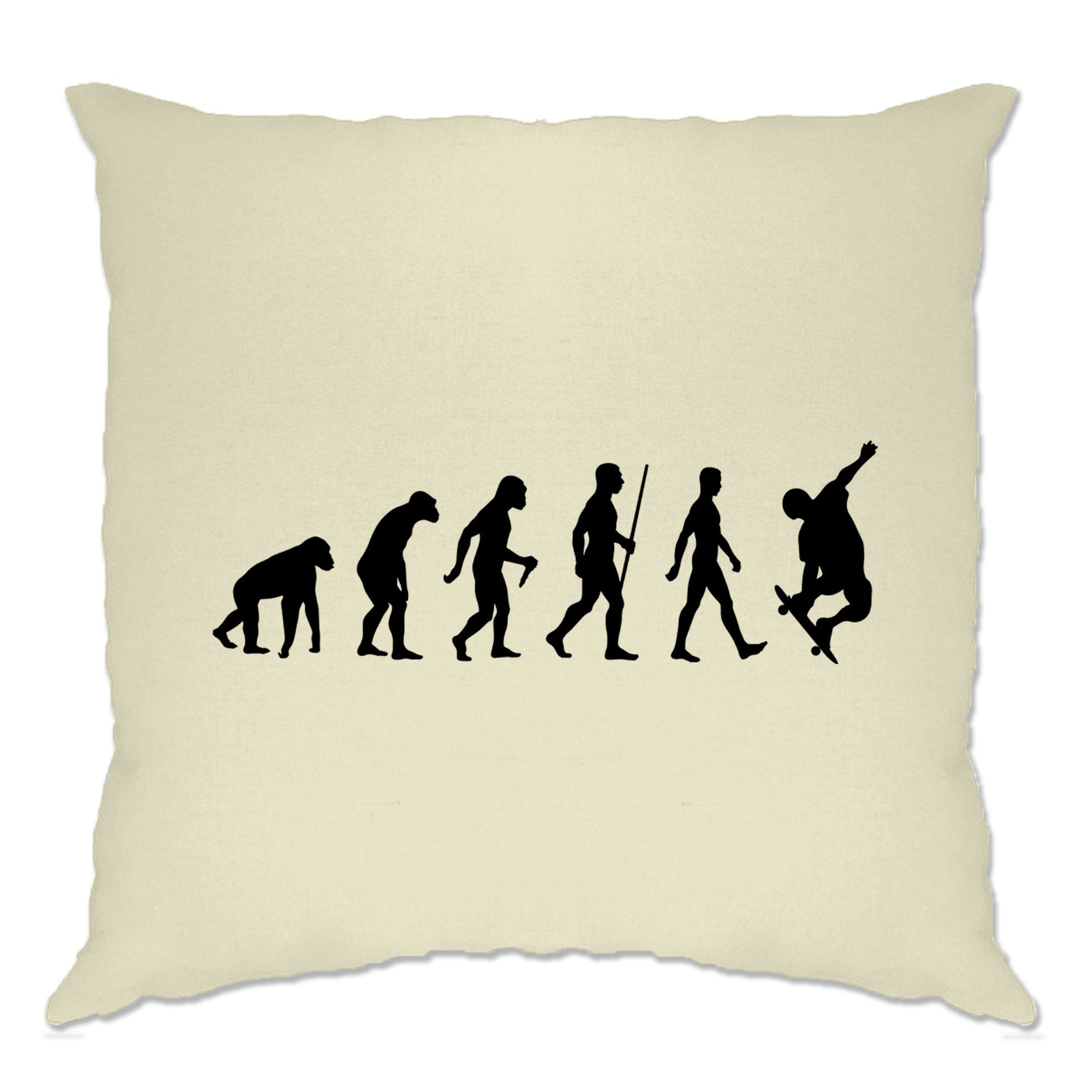 Sports Cushion Cover The Evolution Of A Skateboarder