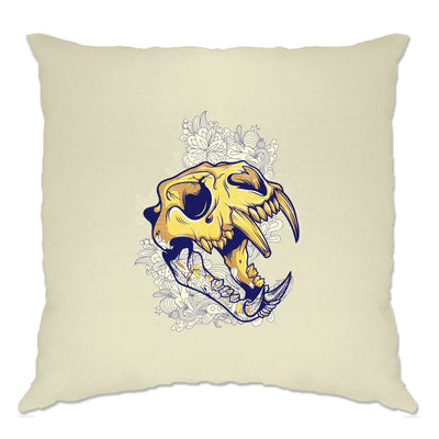 Ice Age Art Cushion Cover Sabertooth Tiger Skull Graphic