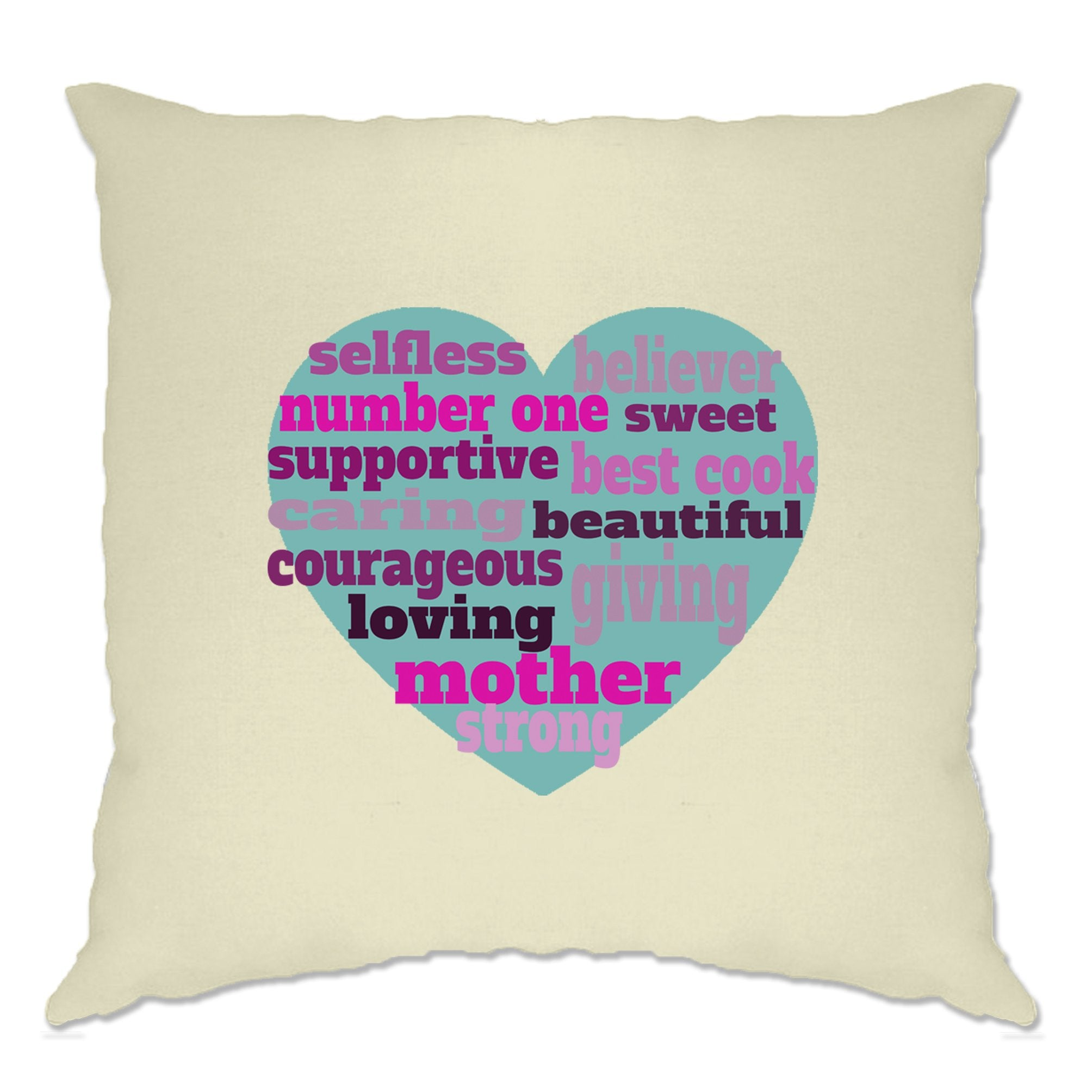 Mother's Day Cushion Cover Heart Of Mum Mom