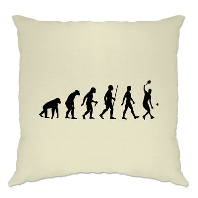 Sports Cushion Cover Evolution Of A Tennis Player
