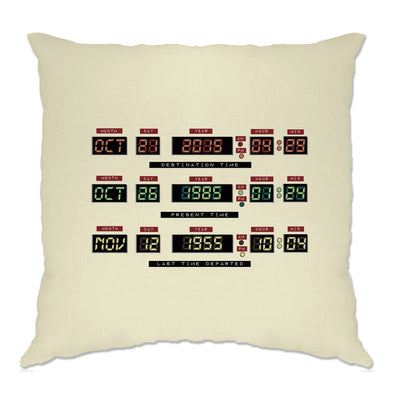 Movie Parody Cushion Cover Future Time Machine Control Panel