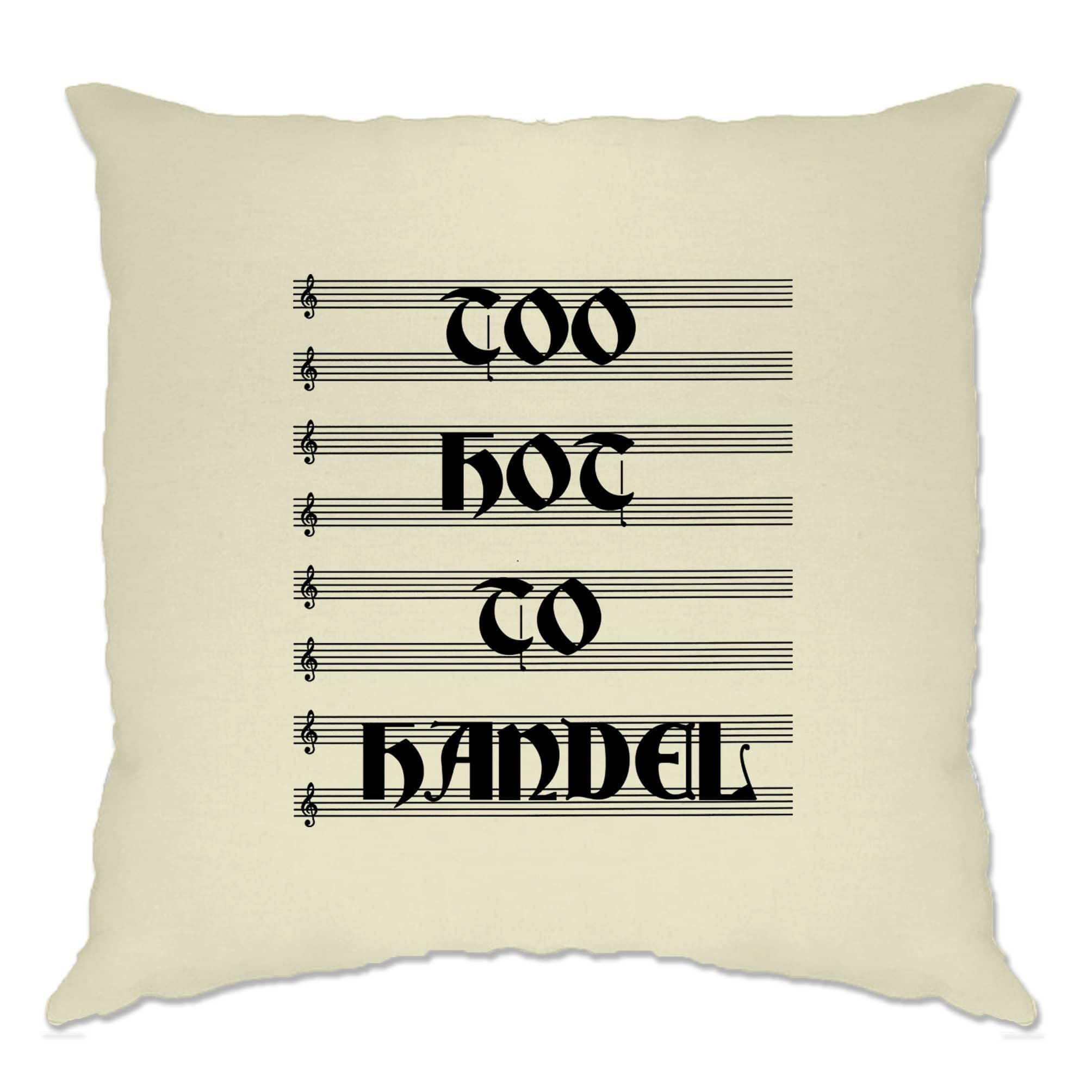 Classical Music Cushion Cover Too Hot To Handel Pun