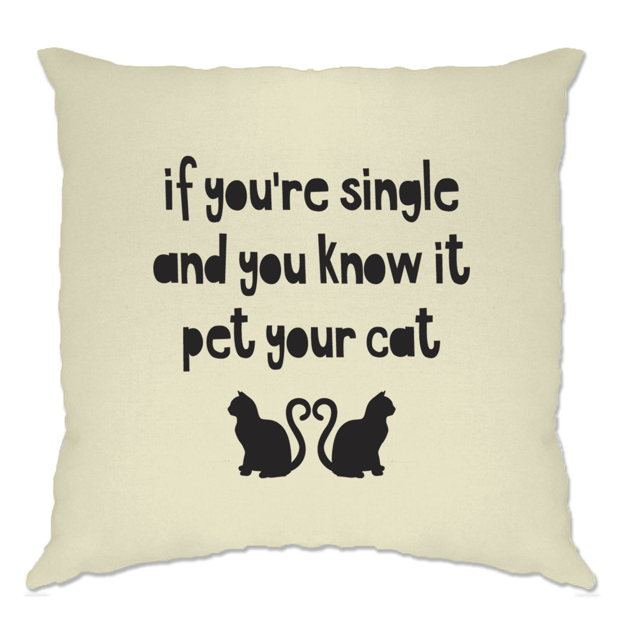 Valentines Cushion Cover Single And You Know It Joke