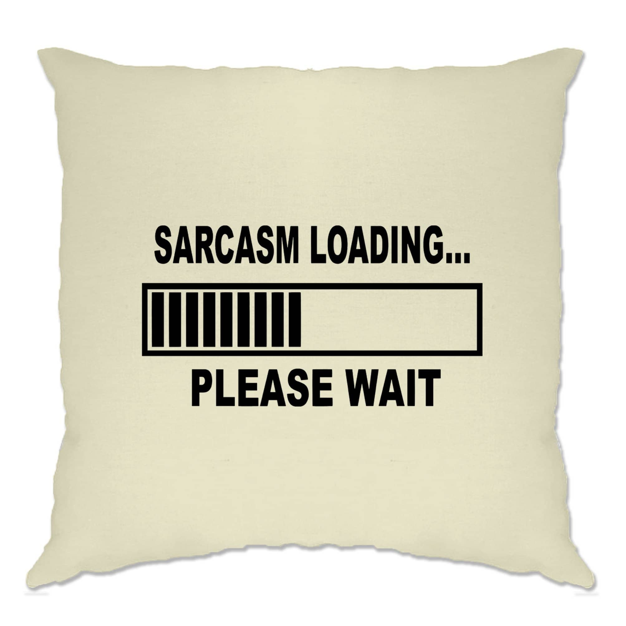 Novelty Cushion Cover Sarcasm Loading Bar Please Wait