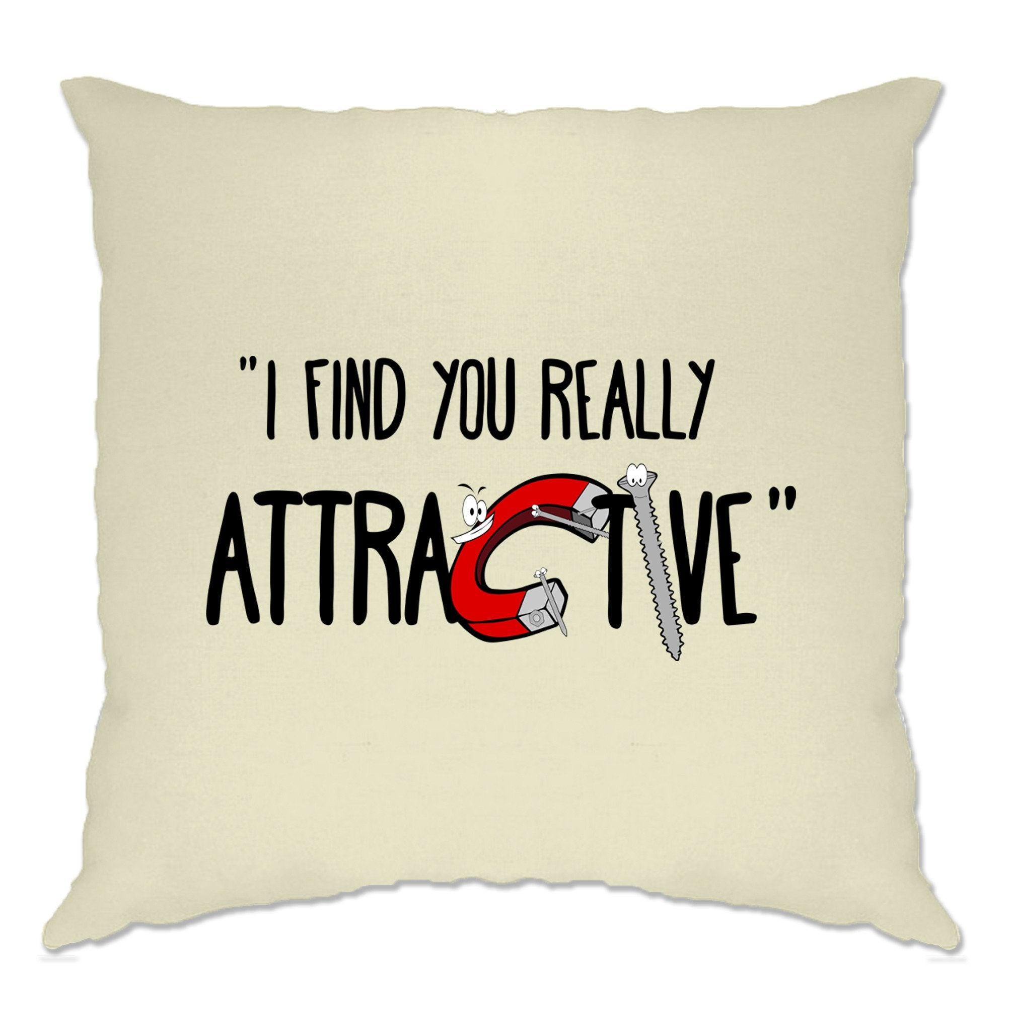 Magnets Cushion Cover I Find You Really Attractive Slogan