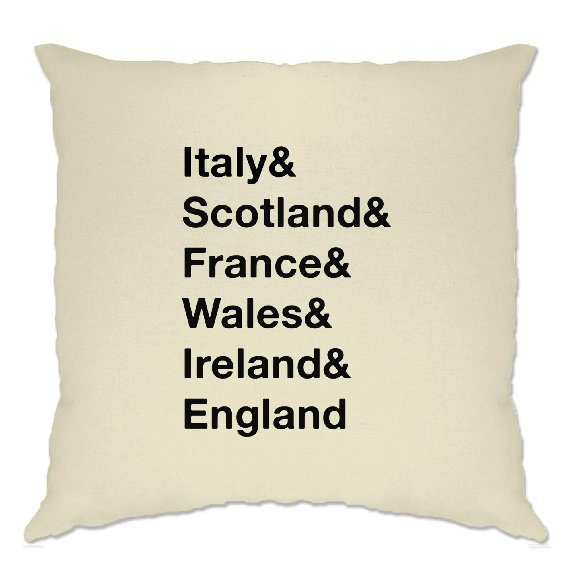 The Six Nations Cushion Cover Italy, Scotland, France