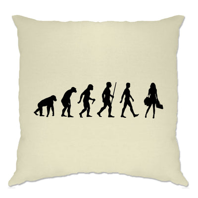 Funny Novelty Cushion Cover The Evolution of Shopping