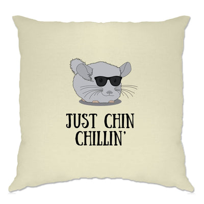 Novelty Cushion Cover Just Chin Chilling Sunglasses