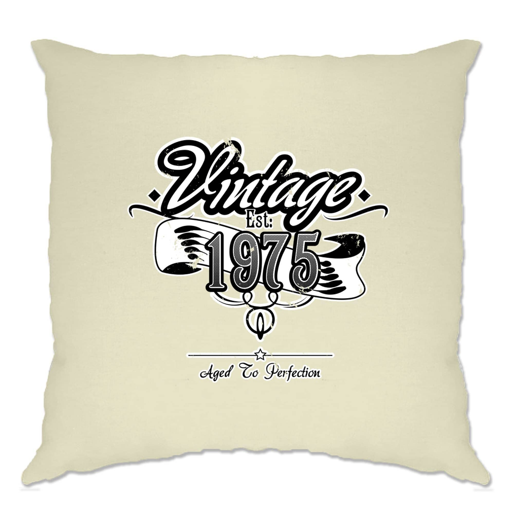 Birthday Cushion Cover Vintage Est. 1975 Aged To Perfection
