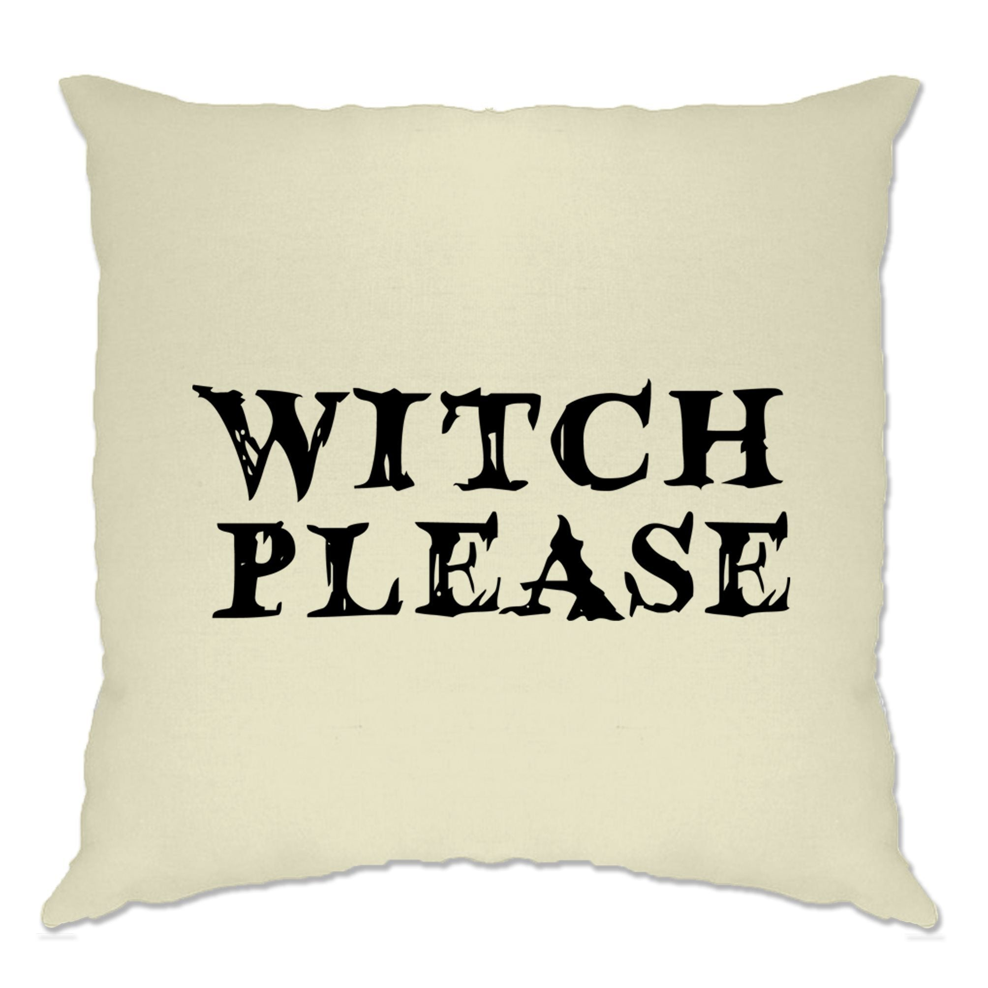 Novelty Halloween Cushion Cover Witch Please Slogan