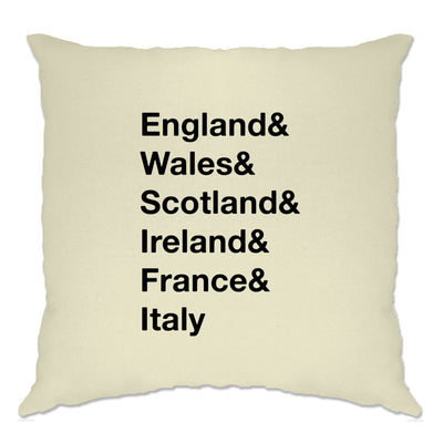 The Six Nations Cushion Cover England, Wales, Scotland
