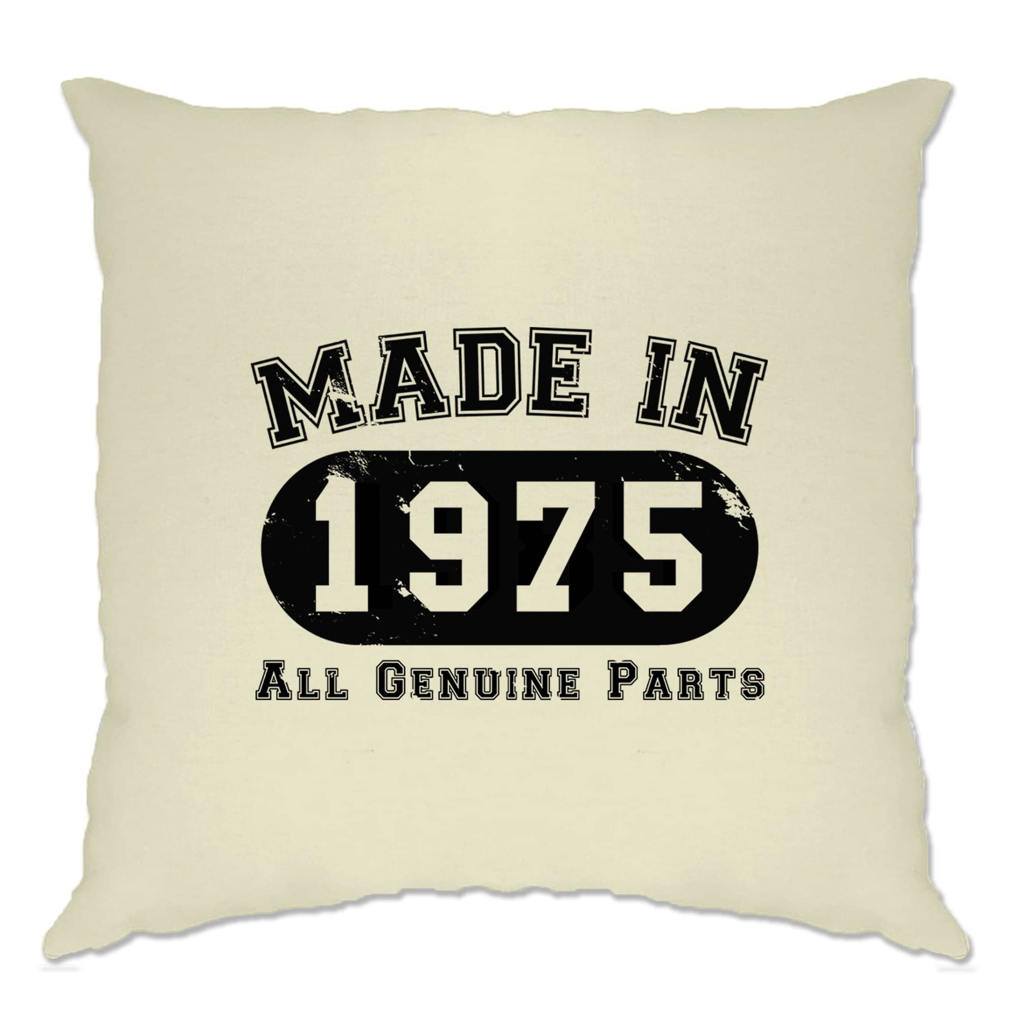 Birthday Cushion Cover Made in 1975 All Genuine Parts
