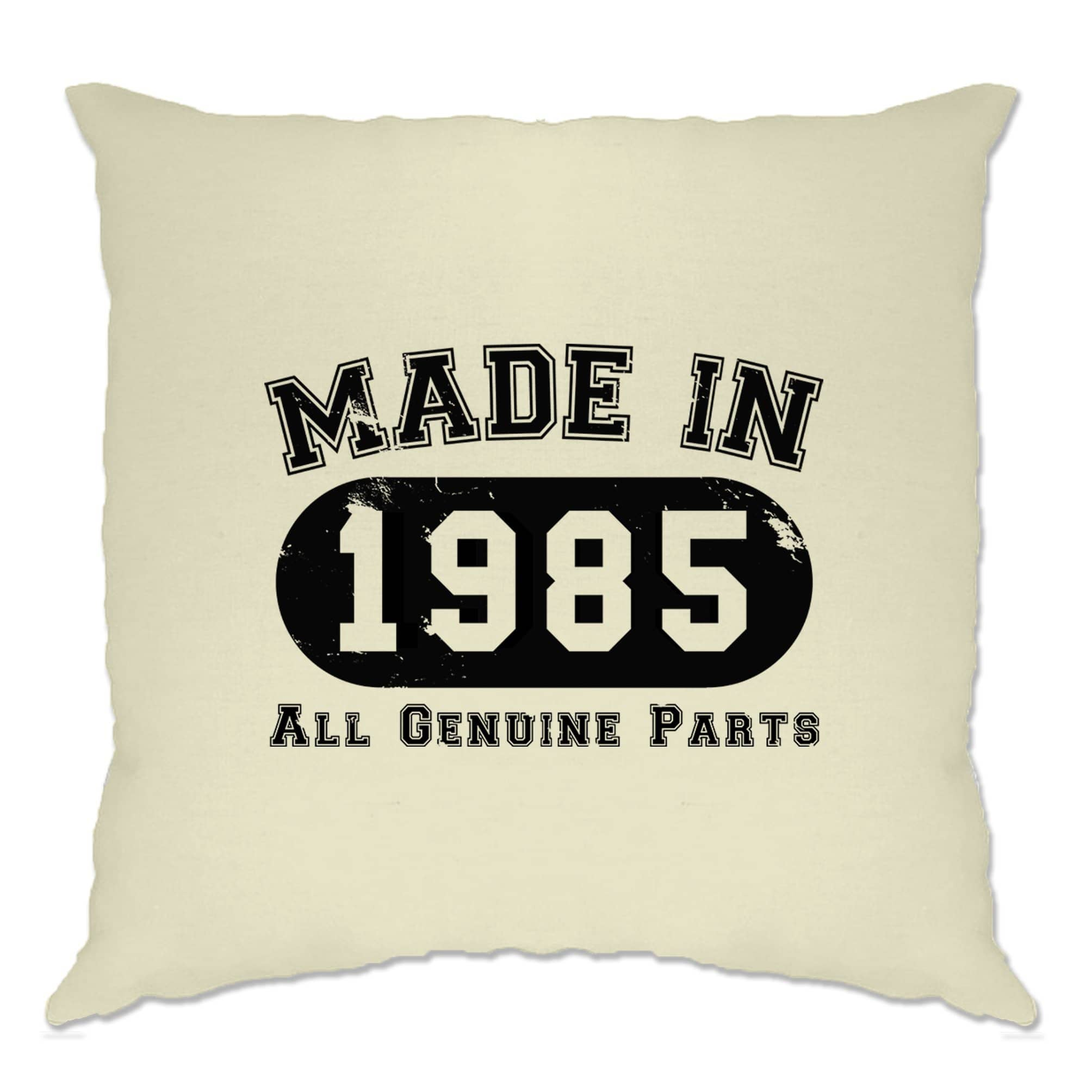 Birthday Cushion Cover Made in 1985 All Genuine Parts