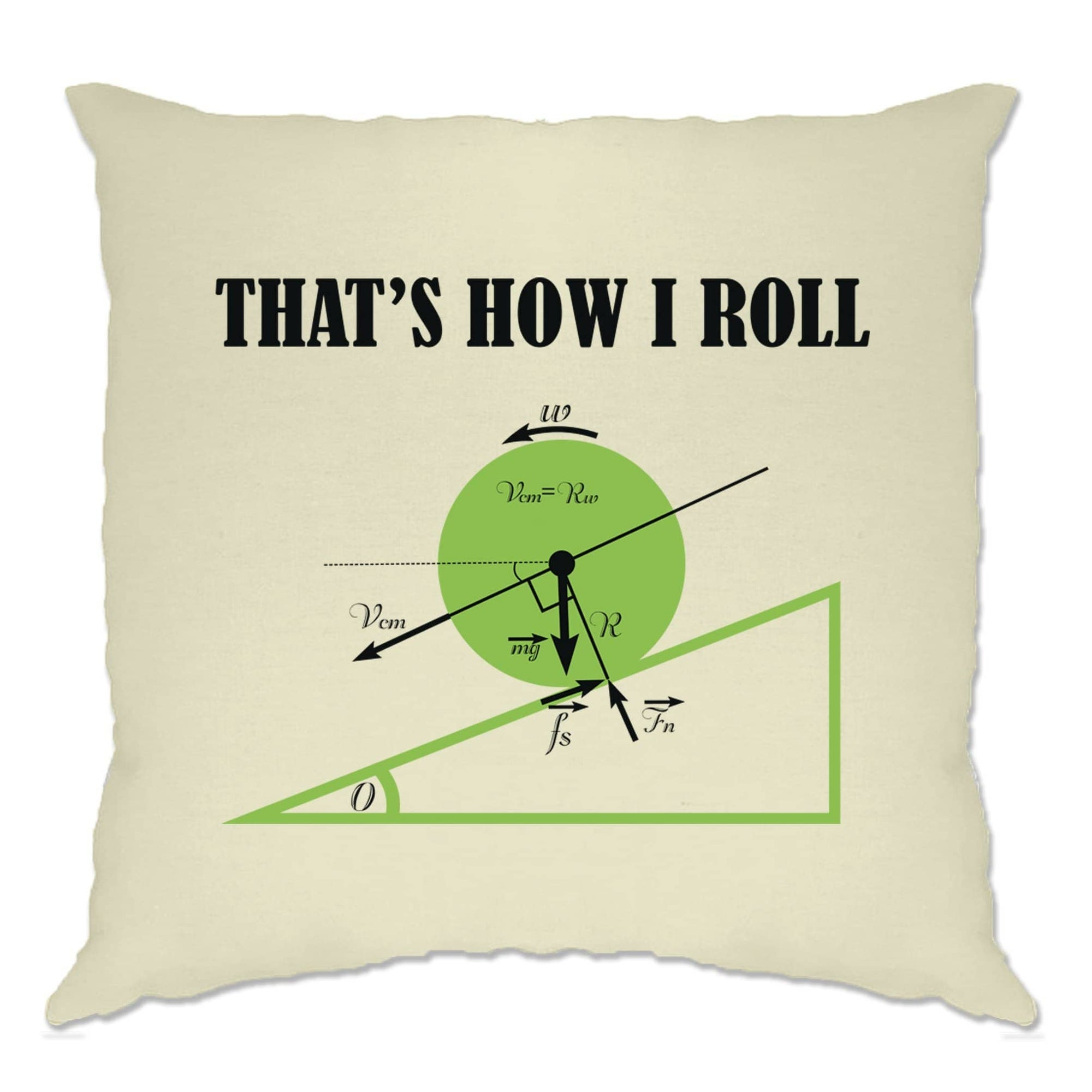 Novelty Math Cushion Cover That's How I Roll Physics Joke