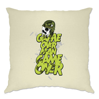 Movie Parody Cushion Cover Game Over Man Slogan
